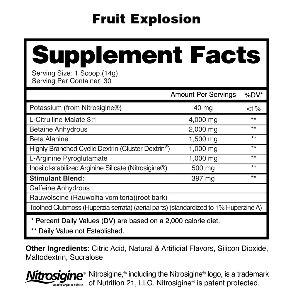 Nuclear Armageddon Supplement Facts