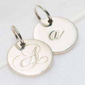 Letter A Petite Initial Charm (2 Sided)