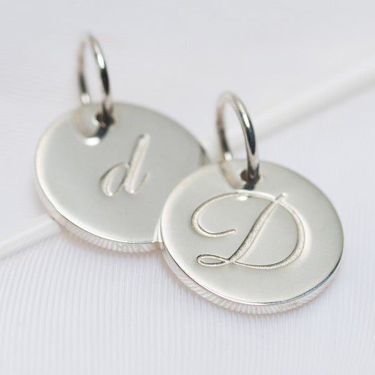 D Petite Initial Charm (2 Sided)