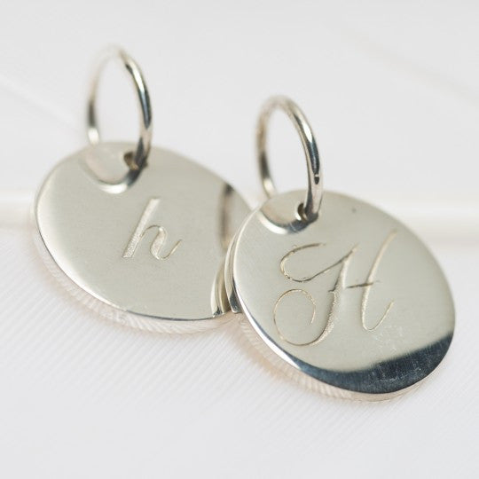 PALAS JEWELLERY | H Petite Initial Charm (2 Sided)