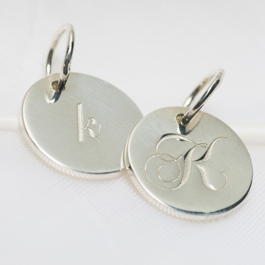 K Petite Initial Charm (2 Sided)