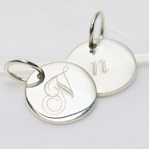 Letter N Petite Initial Charm (2 Sided)
