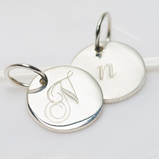 PALAS JEWELLERY | N Petite Initial Charm (2 Sided)