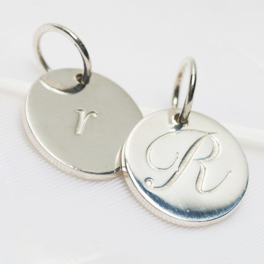 PALAS JEWELLERY | R Petite Initial Charm (2 Sided)