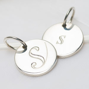 Letter S Petite Initial Charm (2 Sided)