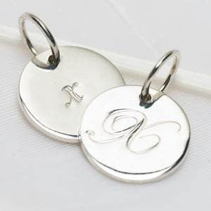 Letter X Petite Initial Charm (2 Sided)