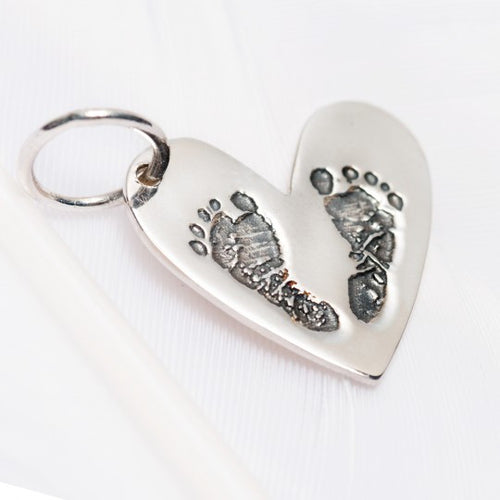 PALAS | Baby Footprints Heart Charm