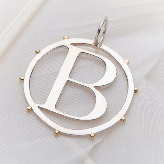 PALAS JEWELLERY | B Cut Out Initial Charm