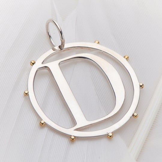 PALAS JEWELLERY | D Cut Out Initial Charm