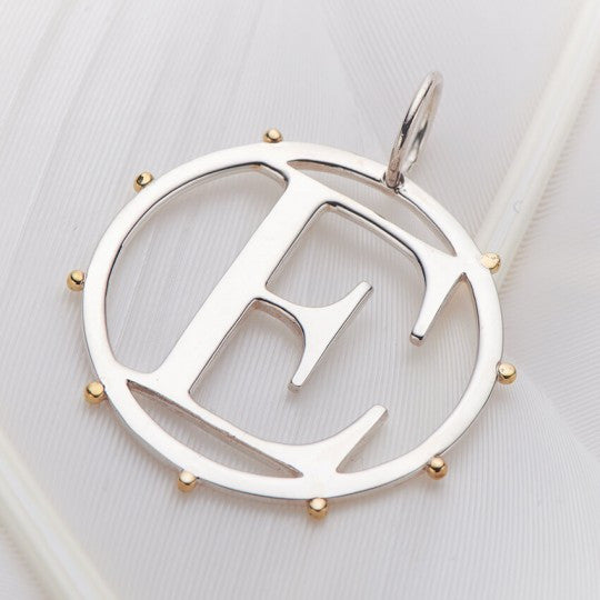 Letter E Cut Out Initial Charm