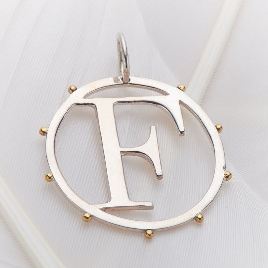 Letter F Cut Out Initial Charm