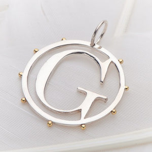 PALAS JEWELLERY | G Cut Out Initial Charm