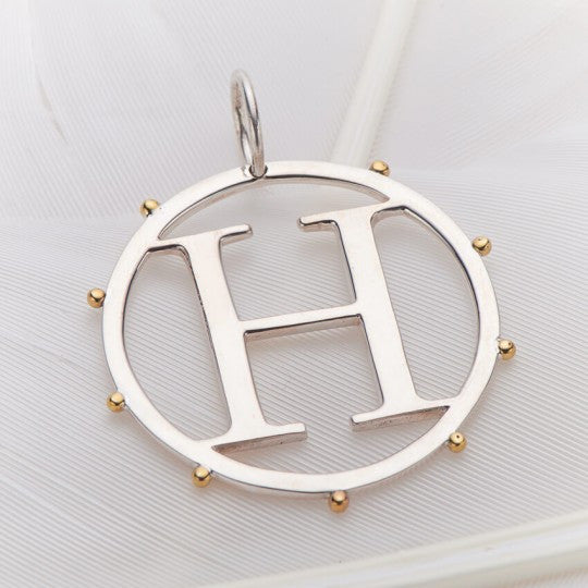 Letter H Cut Out Initial Charm