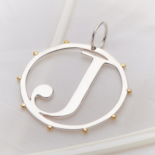 PALAS JEWELLERY | J Cut Out Initial Charm