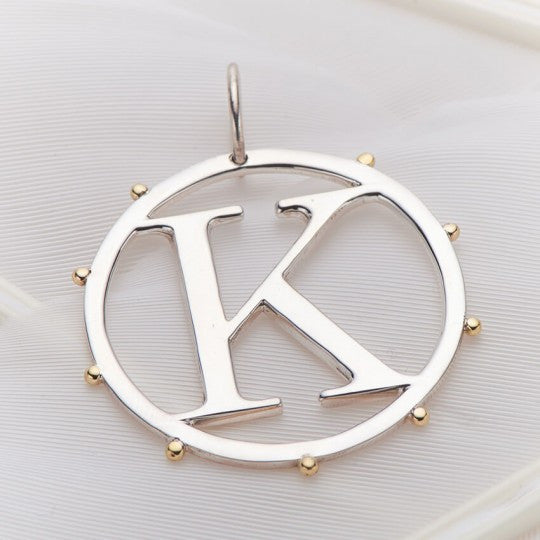 PALAS JEWELLERY | K Cut Out Initial Charm