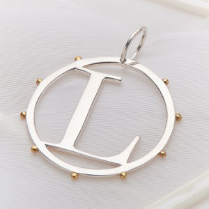 PALAS JEWELLERY | L Cut Out Initial Charm