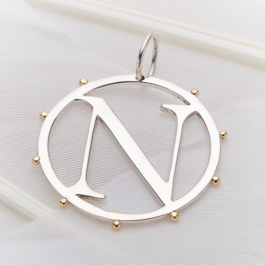 PALAS JEWELLERY | N Cut Out Initial Charm