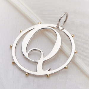 Letter Q Cut Out Initial Charm