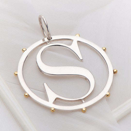 PALAS JEWELLERY | S Cut Out Initial Charm