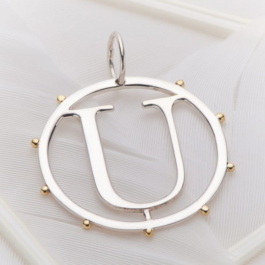Letter U Cut Out Initial Charm