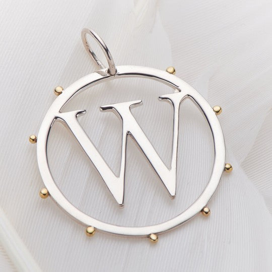 PALAS JEWELLERY | W Cut Out Initial Charm