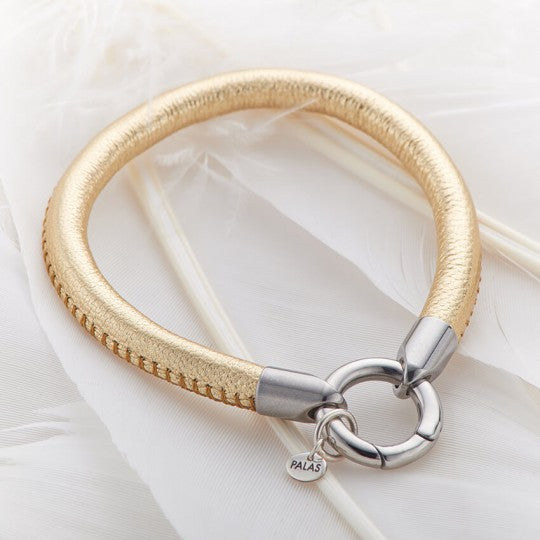 PALAS JEWELLERY | Gold Leather Ring Bracelet