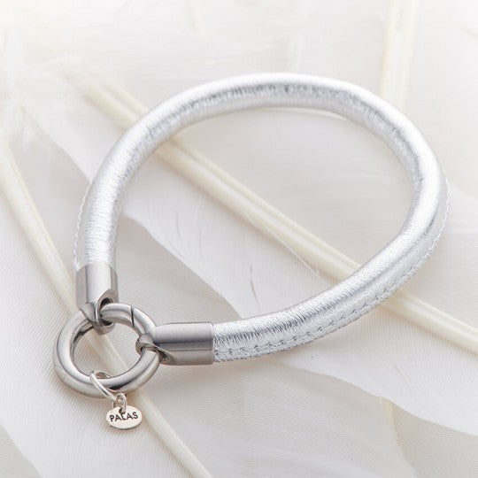 PALAS JEWELLERY | Silver Leather Ring Bracelet