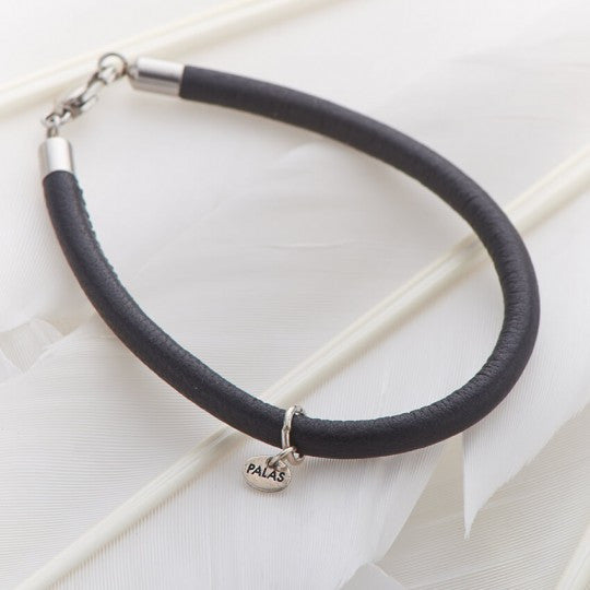 PALAS JEWELLERY | Black Leather Fine Bracelet