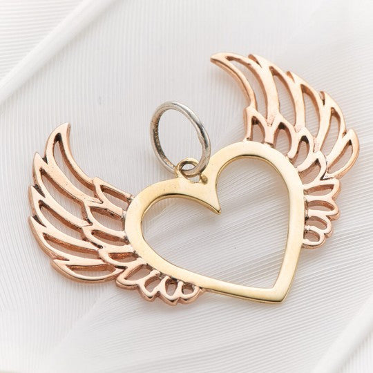 PALAS JEWELLERY | Heart Wings Charm
