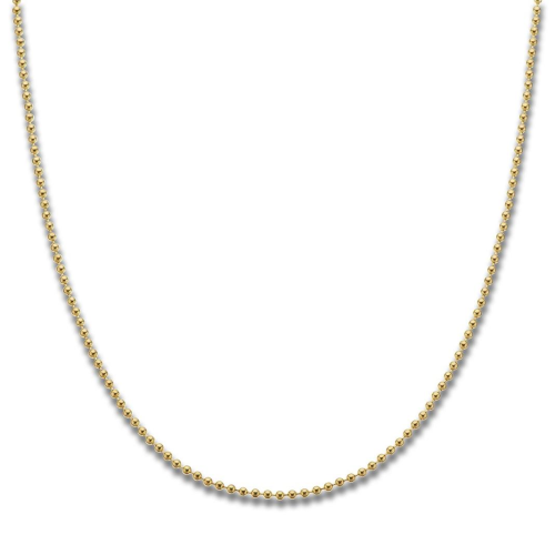 Yellow Gold Plated Ball Chain 40cm