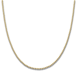 PALAS JEWELLERY | Yellow Gold Plated Ball Chain 40cm