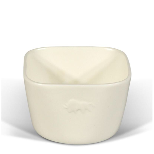 BISON l Ori Squared Bowl, White