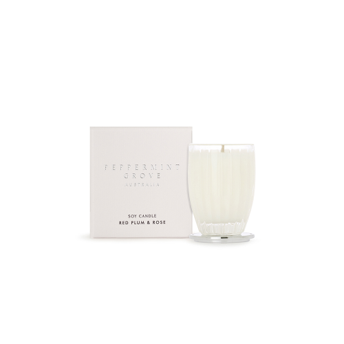 PEPPERMINT GROVE | Red Plum & Rose Candle 60g