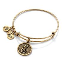 ALEX AND ANI | Initial E Expandable Bracelet, Rafaelian Gold