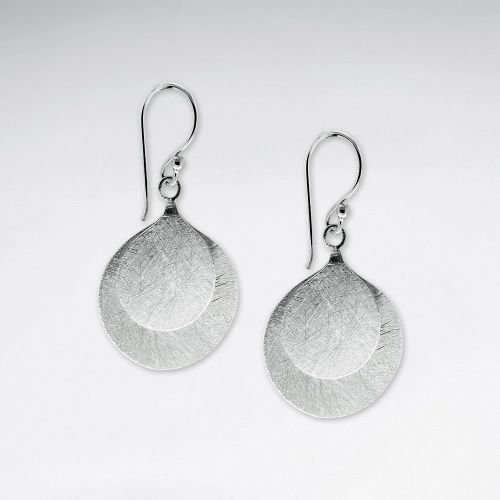 KAREN SILVER | Elongated Circle Drop Earring