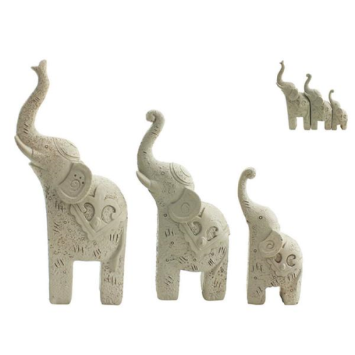 NF LIVING l Trunk Up Elephant S/3 WHITE