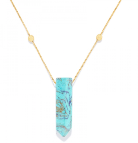ALEX AND ANI | Turquoise Pendant Necklace, 14K Gold
