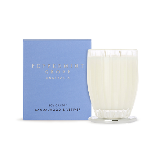 PEPPERMINT GROVE | Sandalwood & Vetiver Candle 350g