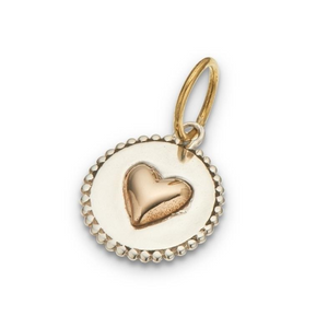 Heart On A Disc Charm