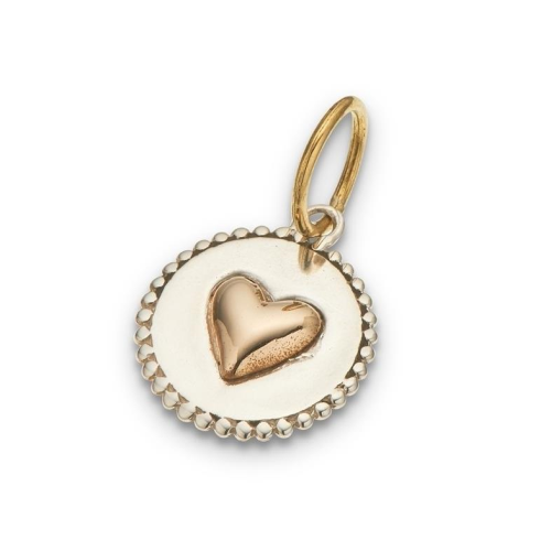 PALAS JEWELLERY | Heart On A Disc Charm