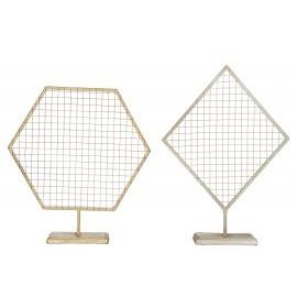 ALBI | Grid J Stand Gold 33cm Gold, Assorted