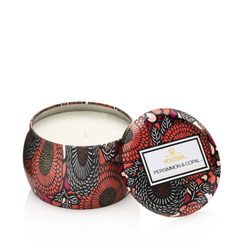 VOLUSPA | Persimmon Copal Decorative Tin Candle