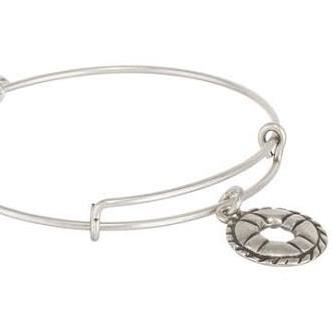 ALEX AND ANI | Charity By Design - Life Preserver Expandable Bracelet, Rafaelian Silver