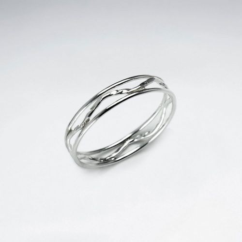KAREN SILVER | Wave Ring - Large