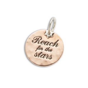 Reach For The Stars (silver+copper) Charm