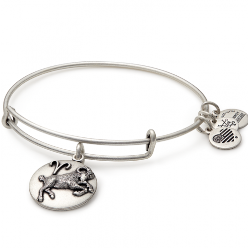 ALEX AND ANI | Zodiac - Aries Expandable Bracelet, Rafaelian Silver