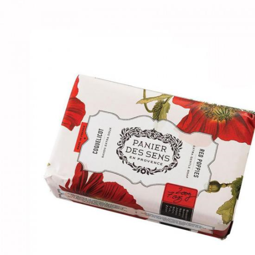 PANIER DES SENS | Red Poppies Wrapped Soap 200g