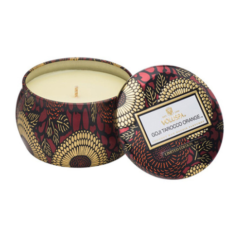 VOLUSPA | Goji Tarocco Orange Decorative Tin Candle