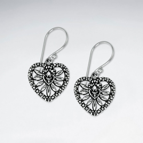 KAREN SILVER | Filigree Heart Earring