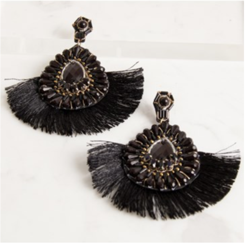 ADORNE | Elaborate Jewelled Fringe Stud Earring